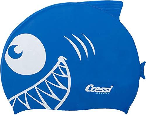 Cressi shark, cuffia nuoto in silicone unisex bambini, royal blu, taglia unica