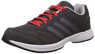 adidas Men's Ryzo 3.0 M Dark Grey, Silver Red Mesh Running Shoes - 11 UK