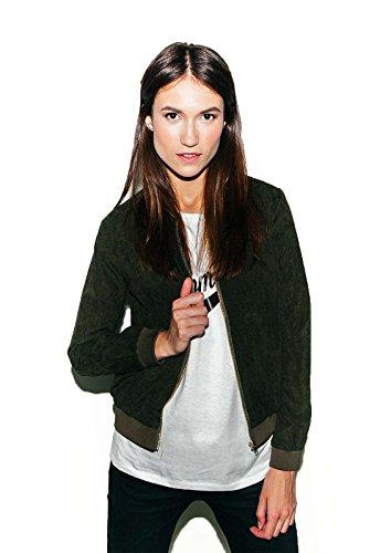 Jacke Jacket Übergang Sommer Winter Damen Neu Trend Samt Optik Damenjacke Mädels Frauen Mädchen Loomiloo
