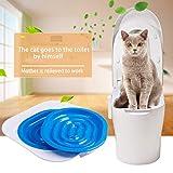 JohnJohnsen Poco igienici Trainer convenienti Accessori per la casa di addestramento della toletta Pratica Pet igienici Allenatore Cat 40 * 40 * 3.5cm (Blu e Nero)