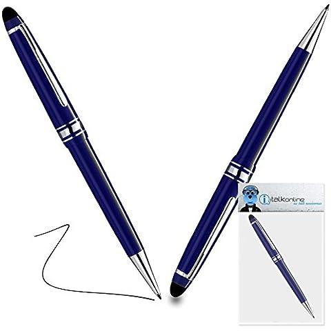 iTALKonline Microsoft Surface RT Blu PRO Captive Toccare Punta penna stilo con punta in gomma con Rullo di Penna