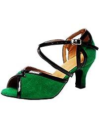 Zapatos de mujer Terciopelo Salón de baile latín Taogo Baile Zapatillas Sandalias Tamaño 35 a 41 , 8.5cm Heel...