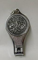 Mississippi Pewter Commemorative Nail Clipper & Bottle Opener