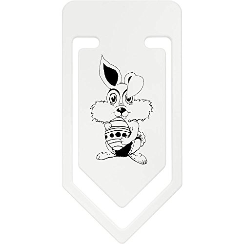 Azeeda 141mm 'Osterhase Hält Ein Ei' Riesige Plastik Büroklammer (CC00017266)