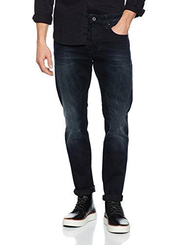 G-STAR RAW Herren Jeans 3301, Schwarz (Dark Aged), 29/30 (Herren Jeans 29x30)