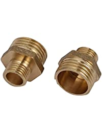 Tradico® 1/2BSP X 1/4BSP Male Thread Brass Hex Nipples Pipe Fittings Connectors 2pcs