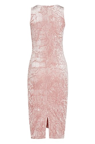 next Robe ruchée en velours Held Standard Femme Rose