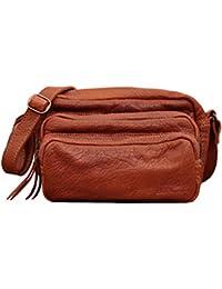 LE CHARLIE Naturel petit sac bandoulière en cuir de buffle pleine fleur style Vintage PAUL MARIUS