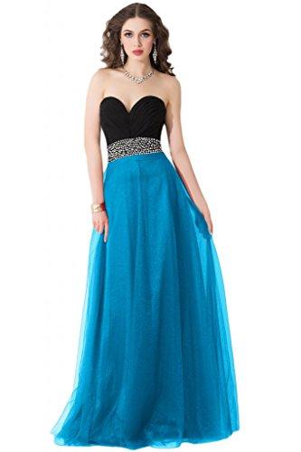 Sunvary elegante scollo Sweetheart vestito damigella d'onore Maxi abito da sera Pageant Gowns Blue