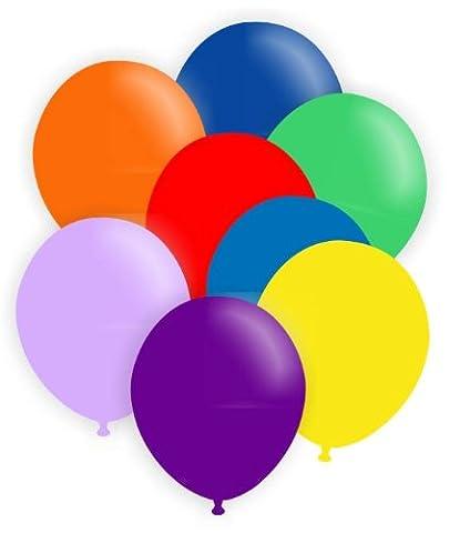100 Stück R085-00 ~Ø28cm unbedruckter Standardballon in Pastellfarbe ohne Zubehör, sie sind für Luft bzw. Ballongasbefüllung bestens geeignet.