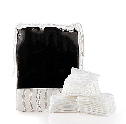 Risingmed 100% Natural Double-Deck Maquillage Coton Pads, Cotons à Démaquiller, Non écru, Respirant Démaquillant Accessoires pour le visage 200 Pcs pour Femme (200Pcs)