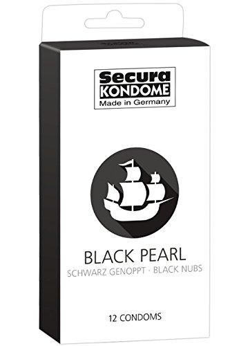 Secura kondome negro Pearl Preservativos