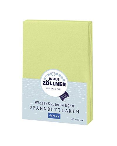 Julius Zöllner 8330013340 Jersey Spannbetttuch für Wiegen 90x40 und Stubenwagen, Farbe: grün -