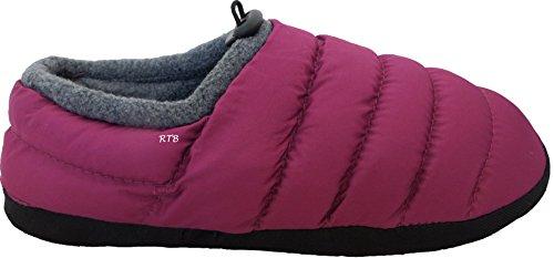 Daunen-Hausschuhe von RTB, gesteppt, mit warmem Fleece gefüttert, für Herren, Damen, Mädchen und Jungen Violett