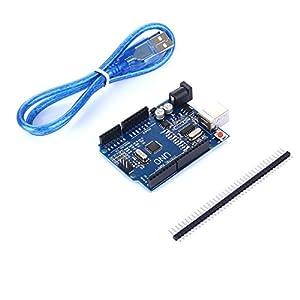 41FkIrn4%2BsL. SS300  - tinxi® La nueva versión del UNO R3 de ATmega328P CH340 para Arduino + cable USB