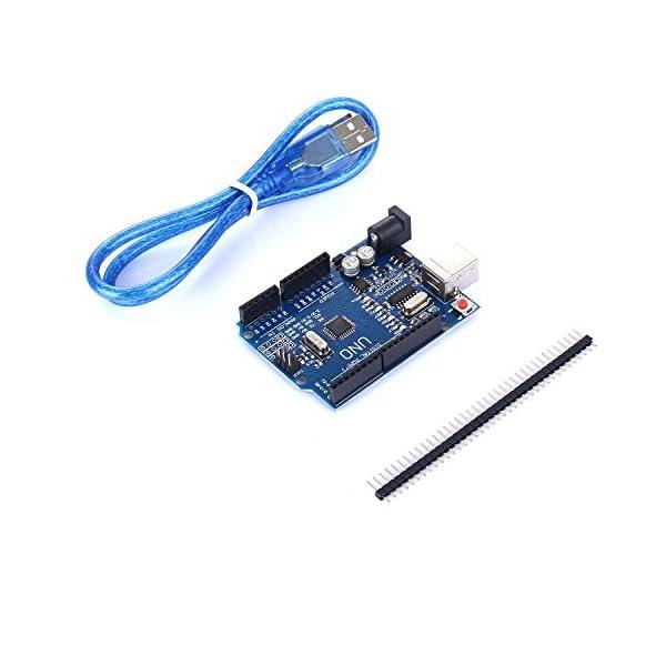 41FkIrn4%2BsL. SS600  - tinxi® La nueva versión del UNO R3 de ATmega328P CH340 para Arduino + cable USB