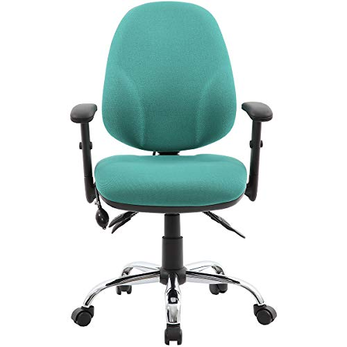 Blutdruck Air (Certeo Bürostuhl Ergo Operator, türkis - Schreibtischstuhl mit T-Design Armlehne - Computerstuhl mit ergonomischer Form und Neigungsverstellung)