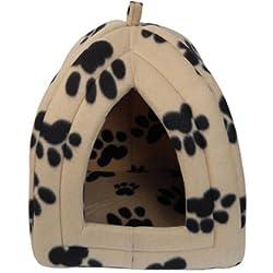 Haustier-Iglu / Haustierhöhle, für Hunde und Katzen, weich, aus Fleece