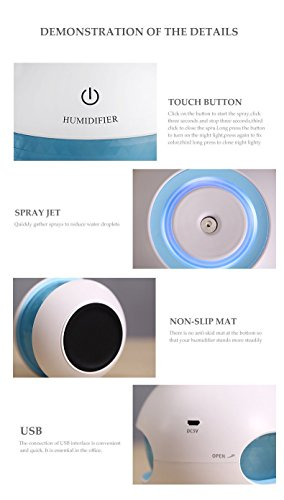 Jyoti enterprise Magic Diamond Humidifier 7 Color LED Lights Air Purifiers for Home Bedroom Office Car