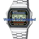 Cinturino per orologio casio a168wa-1yes/a168wa-1y (Orologio non incluso. Solo Originale Cinturino)