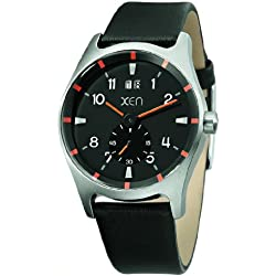 Xen Herren-Armbanduhr XL Analog Quarz Leder XQ0215