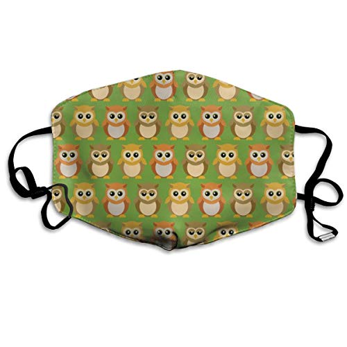 (Small) Baby Owl Friends Dust Mask Anti Dust Pollution Mask Washable Polyester Mouth Mask with Adjustable Straps