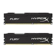 HyperX HX318C10FBK2/16 Fury 16 GB (2 x 8 GB), 1866 MHz, DDR3, CL10, UDIMM, 1.35V, Nero