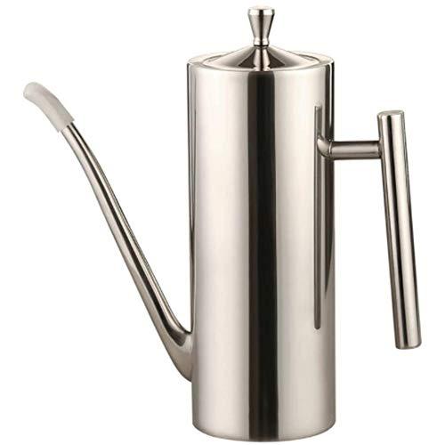 Aceitera y vinagrera de acero inoxidable, dispensador de salsas, portátil, antigoteo, para cocina large -