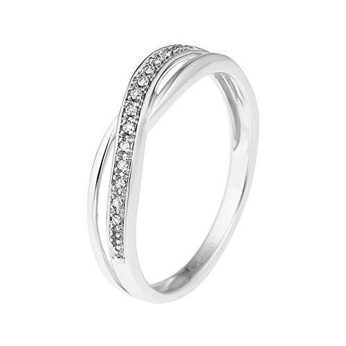 Diamonds & You-Weboptik-Ring Weißgold 9 kt Premium Diamant 0,03 Karat Größe 52-AM 9RG 21-399/B 52 - Diamant-ring-größe 9