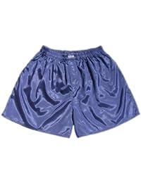 (M) Gris bleu Hommes Boxer Shorts Sous-vêtements Vêtements de nuit en satin