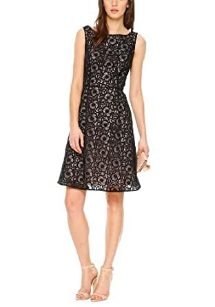 s.Oliver BLACK LABEL Damen Kleid, 06.403.82.7914 Einfarbig, GR. 38 (Herstellergröße: 38), Schwarz (Black)