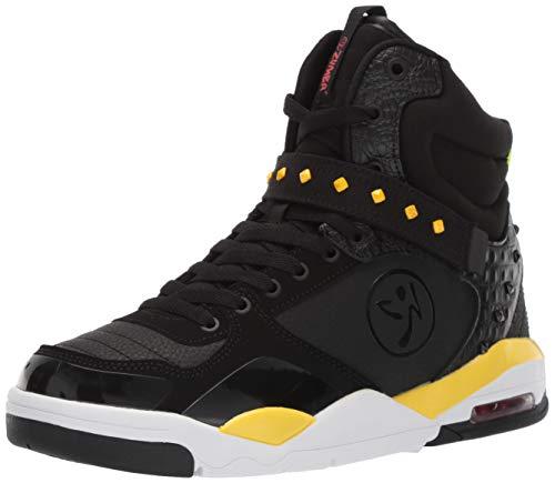 Zumba Damen athletische Tanz-Training-Schuhe maximalem Aufprallschutz, Schwarz (Black Studs 1), 38 EU
