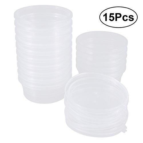 Lagerbehälter Klar (rosenice Schaumstoff Ball Vorratsdosen schlamm Vorratsdosen mit Deckel für 20g schlamm–15Packungen)
