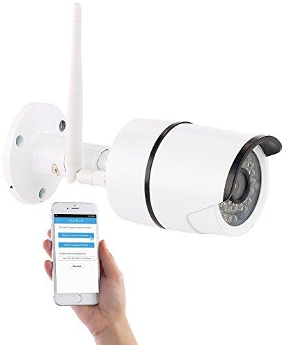 Kamera überwachung Persönliche (7links Funk Kamera: Wetterfeste WLAN-IP-Kamera mit Full HD 1080p und IR-Nachtsicht, IP66 (IP Kamera Outdoor))