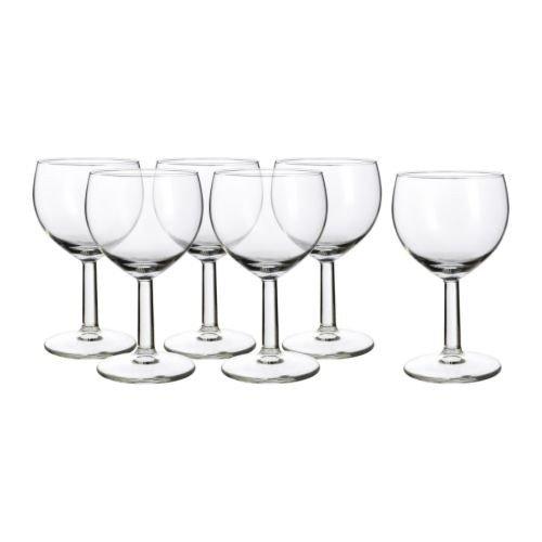 IKEA 6-er Set Weißweingläser Försiktigt Gläserset mit sechs Weingläsern - mit 16cl Inhalt - spülmaschinenfest