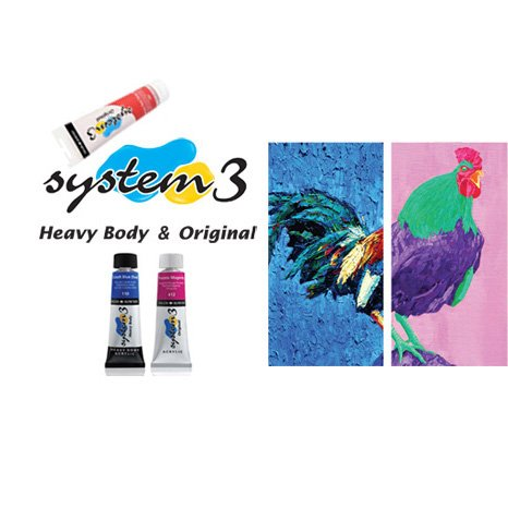 Daler-Rowney System 3-150 ml Tube Acrylfarbe, Cadmium, Farbton Orange/hellblau