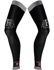 Compressport Full Leg - Calcetines unisex, color negro, talla 2