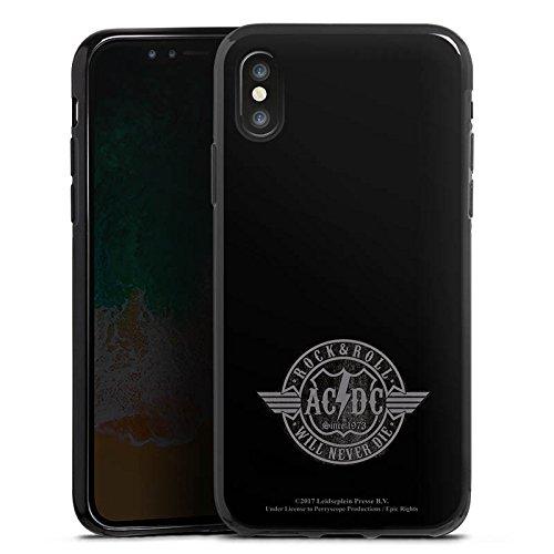 Apple iPhone 7 Plus Silikon Hülle Case Schutzhülle ACDC Rock and Roll Offizielles Lizenzprodukt Silikon Case schwarz