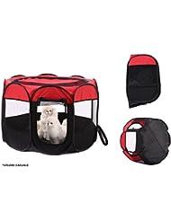 takestop cortina portátil plegable perros gatos animales doméstico Casa Caseta viaje camping Ed 057 90 x