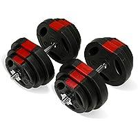 TNP Accessories Dumbbell Weights Set 20KG/30KG/40KG/50KG Dumbbells Bar Set ***NEW LOOK***