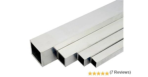 Aluminium tubes carr/és en AW-6060 finition T66 Mill 80x80x4mm 500mm