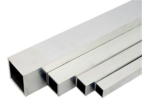 Aluminium Quadratrohr Walzblankes Vierkantrohr 30x30x2 mm 1000mm