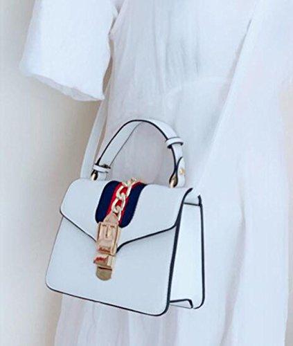 QPALZM 2017 Womens Stylish Leder Hobo Taschen Mit Schultertasche Handtasche White