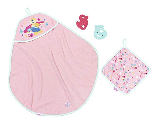 Baby Born 827444 Bath Hooded Towel Set, Multi