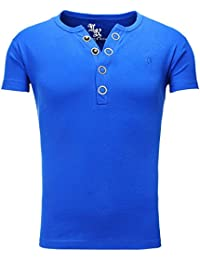 Young and Rich - T shirt homme col v T shirt 872 bleu roi - Bleu