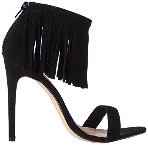 La Strada Black Cow Suede Sandal, Sandales ouvertes femme Noir - Schwarz (0001 - cow suede black)