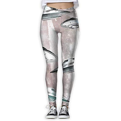 Deglogse Yogahosen, Trainingsgamaschen,UFO Painting Pants Yoga Workout Fitness Capris Leggings for Women Girls (Ufo-capris)
