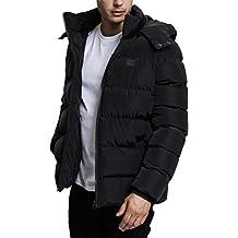 Urban Classics Herren Winterjacke Hooded Puffer Jacket, gefütterte Steppjacke mit Kapuze, hochschließender Reißverschluss