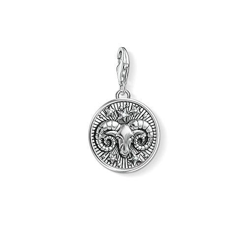 Thomas Sabo Damen Herren-Charm-Anhänger Sternzeichen Widder Charm Club 925 Sterling Silber 1640-643-21