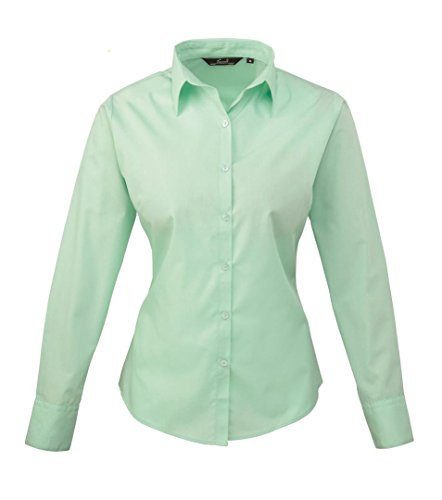 Premier Women's Formal Poplin Long Sleeve Shirt Vert d'eau